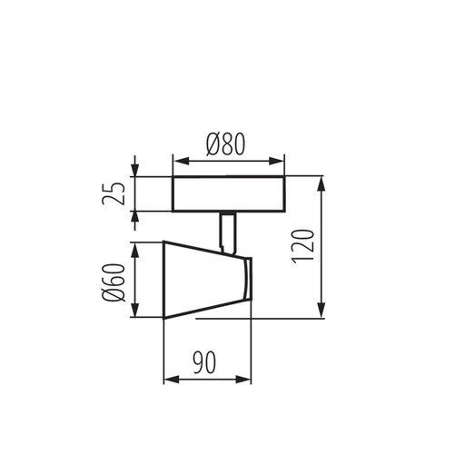 Спот Kanlux Enali GU10 35W IP20 черный (12043682) - изображение 1