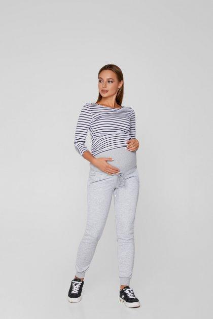 Теплые спортивные штаны для беременных Lullababе Base XXL Меланж - изображение 1