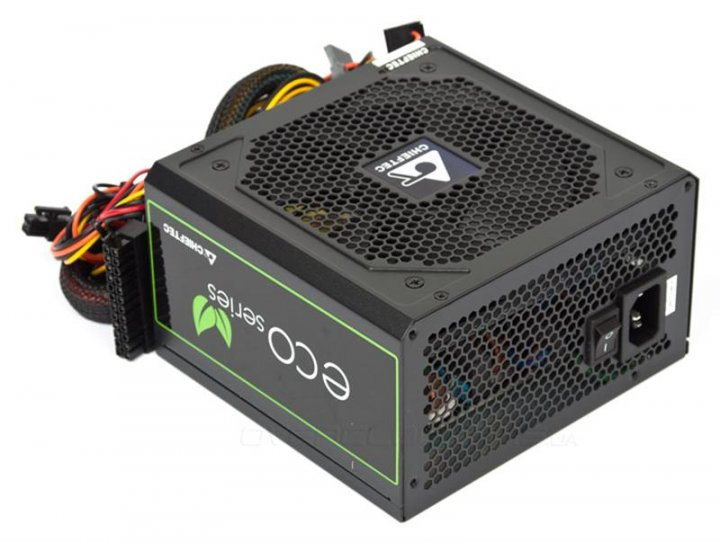 Блок живлення Chieftec GPE-500S Eco, ATX 2.3, APFC, 12cm fan, ККД 85%, RTL - зображення 1