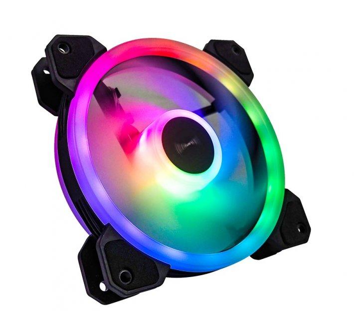Вентилятор Tecware ARC Spectrum F3 Starter Kit (TW-ARC-F3-SK4), 120x120x25мм, 3-pin, черный с белым - изображение 1