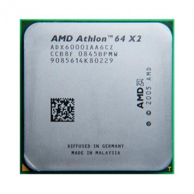 Процесор AMD Athlon 64 X2 6000 125W 2 Ядра, 3.0 GHz, AM2 , Tray ( ADX6000IAA6CZ ) Б/У - зображення 1