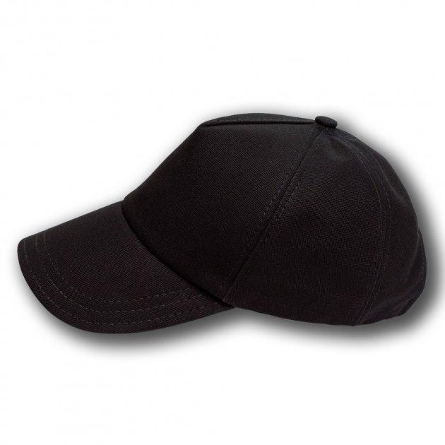 Бейсболка Lider демисезонная из коттона 55-60 черная - изображение 1