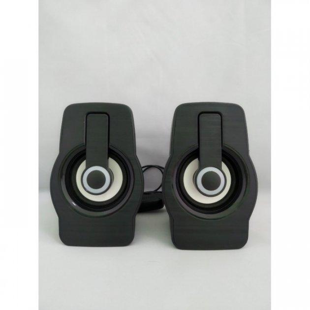 Комп'ютерні колонки акустика 2.0 USB FnT FT-185 Чорні (45833) - зображення 1