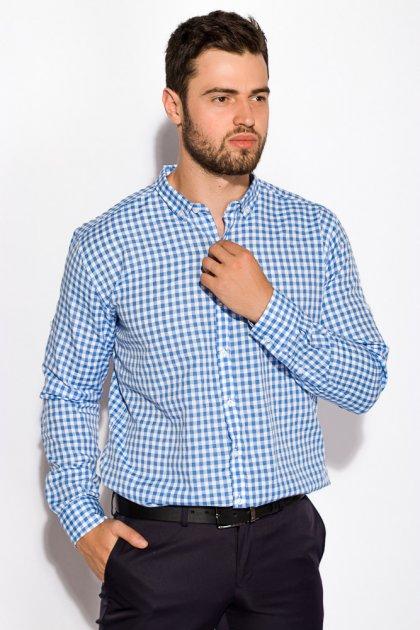 Рубашка Time of Style 511F037 XS Бело-голубой - изображение 1
