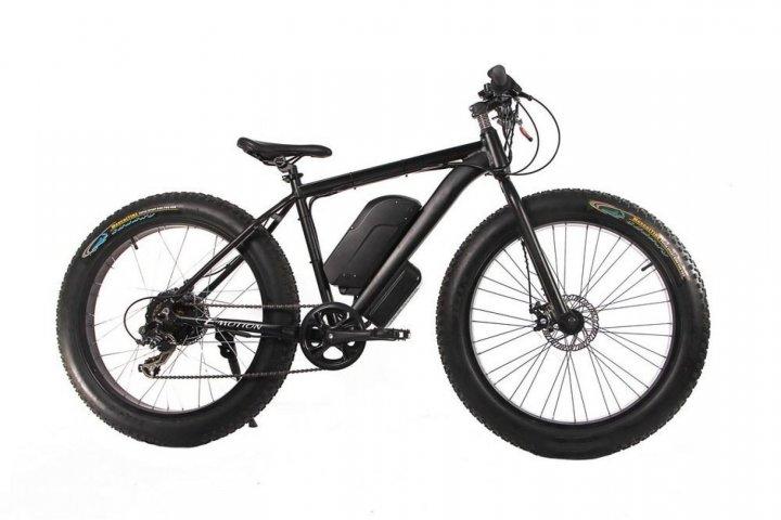 "Електровелосипед E-motion Fatbike 48V 1000 Вт 26"" чорний - зображення 1"