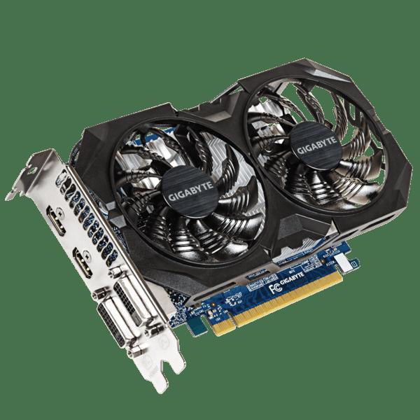 Відеокарта Gigabyte PCI-Ex GeForce GTX 750Ti WindForce 2X 2048MB GDDR5 (128bit) (1059/5400) (2 x DVI, 2 х HDMI) (GV-N75TOC2-2GI) Б/В - зображення 1