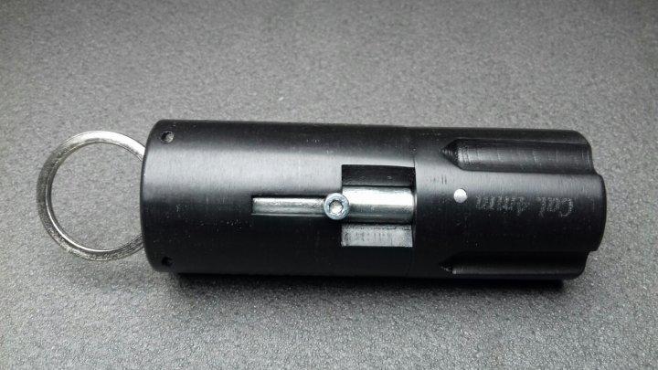 """Револьвер под патрон Флобера - брелок Mig """"Quatro"""" (четырехзарядный, черный) - изображение 1"""
