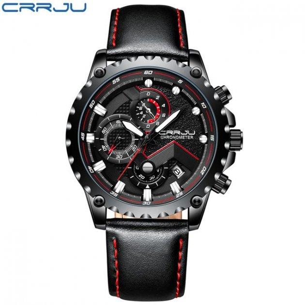Мужские наручные часы CRRJU 2158 Black-Red - изображение 1