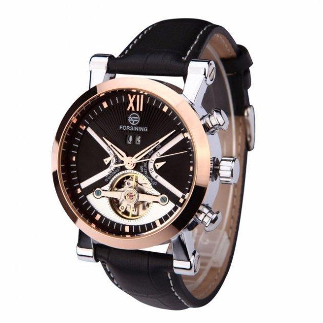 Механические часы с автоподзаводом Forsining (black-bronze) - изображение 1