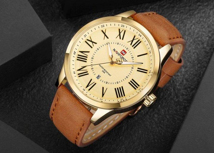 Чоловічі годинники Naviforce Royal Lite Gold - зображення 1