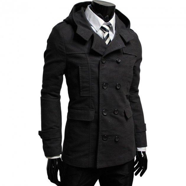 Пальто Chernyy Kot Coat 8419 BLACK Черный XL - изображение 1