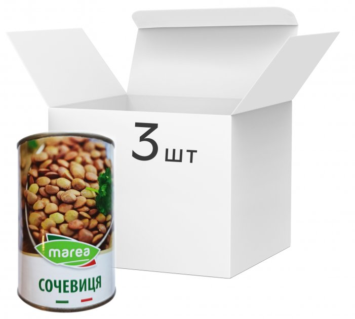 Упаковка чечевицы Marea Lentils 400 г х 3 шт (8033219794189) - изображение 1