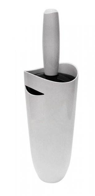 Ершик для унитаза Primanova серия Фелиа 0510 белый коричневый - изображение 1