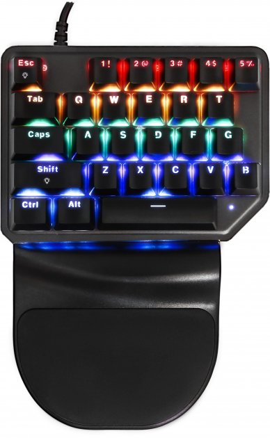 Клавиатура проводная Motospeed K27 USB Black ENG Outemu Red (mtk27mr) - изображение 1