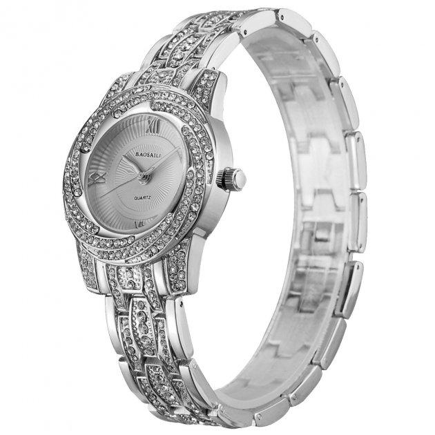 Стильні годинники BAOSAILI BSL1030 Silver модний аксесуар для дівчат жіночі наручні годинники - зображення 1