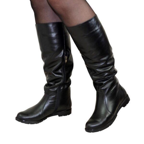Сапоги женские Vasha Para 1723 37 кожа черная - изображение 1