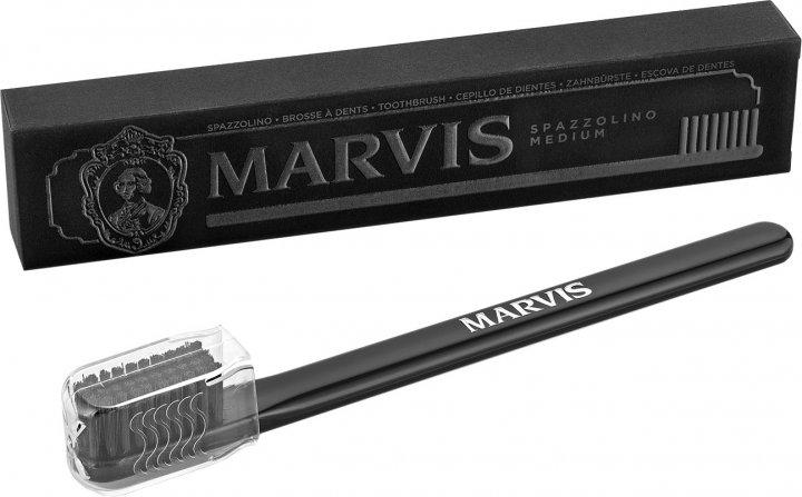 Зубная щетка Marvis средней жесткости Черная (8004395110087) - изображение 1