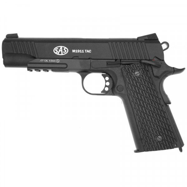 Пістолет пневматичний SAS (M1911 Tactical) Blowback. Корпус - метал. 23701429 - зображення 1
