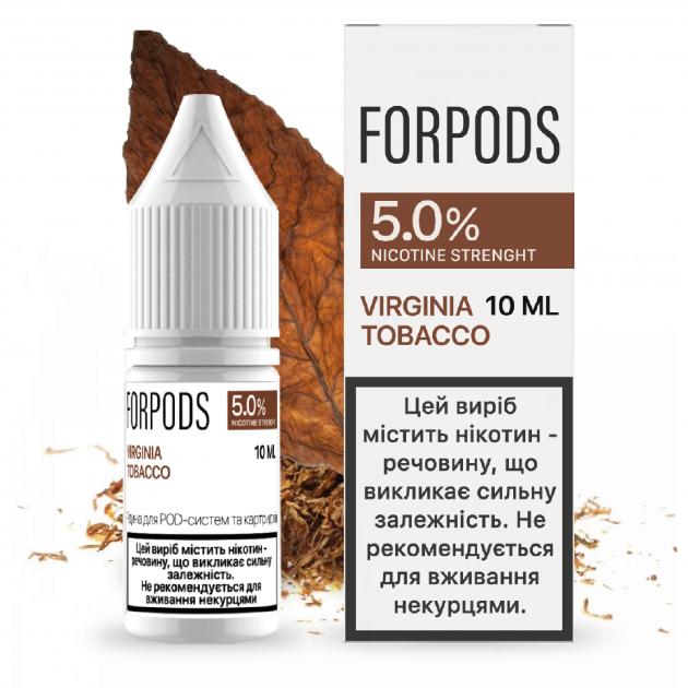 Рідина для POD систем FORPODS Virginia Tobacco 50 мг 10 мл (Тютюн) (FP-VT-50-10) - зображення 1