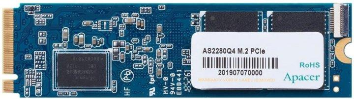 Apacer AS2280Q4 500GB NVMe M.2 2280 PCIe 4.0 x4 3D NAND TLC (AP500GAS2280Q4-1) - изображение 1