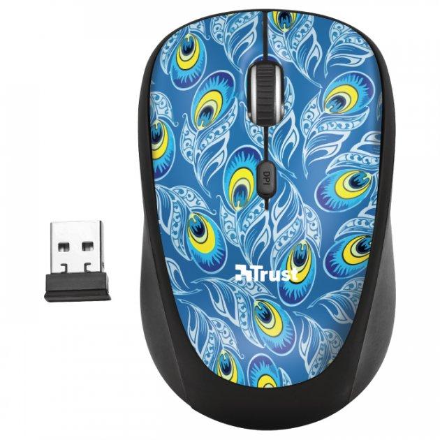 Мышь Trust Yvi Wireless Peacock (TR23388) - изображение 1