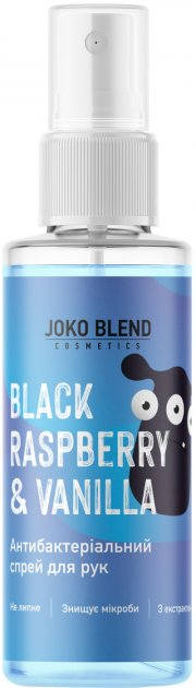 Антибактеріальний спрей для рук Joko Blend Black Raspberry & Vanilla 30 мл (4823109400146) - зображення 1
