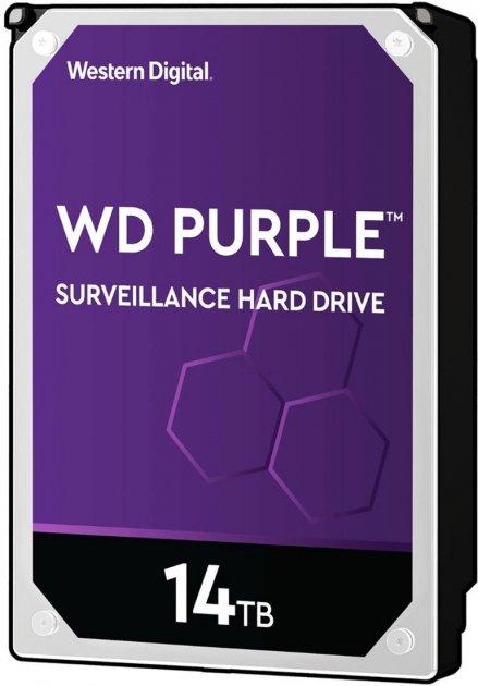 Жорсткий диск Western Digital Purple 14TB 7200rpm 512MB WD140PURZ 3.5 SATA III - зображення 1