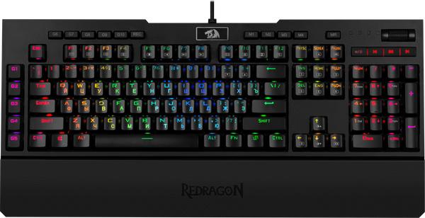 Клавіатура дротова Redragon Brahma RGB USB Black OUTEMU Blue (77647) - зображення 1