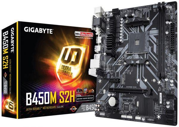 Материнская плата Gigabyte b450m s2h Socket am4 - изображение 1