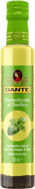 Оливковое масло Olio Dante Extra Virgin первого холодного отжима со вкусом базилика 250 мл (8033576194011_8033576194936_18033576194933) - изображение 1