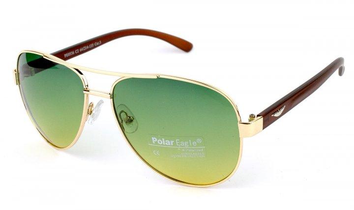 Поляризационные очки Водителя антифара Polar Eagle Оriginal New (Yellow Green 6 ) - изображение 1