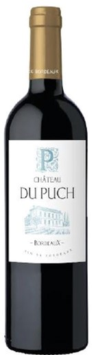 Вино Chateau Du Puch красное сухое 0.75 л 12.5% (3303292800448) - изображение 1