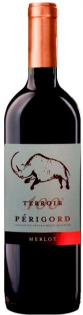Вино Terroir Merlot Perigord красное сухое 0.75 л 12.5% (3423290207985) - изображение 1