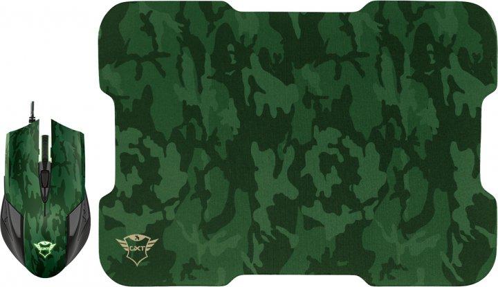Миша Trust GXT 781 Rixa Camo Mouse & Pad USB Camouflage (TR23611) - зображення 1