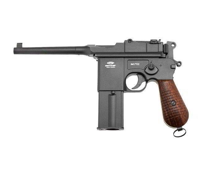 Пневматичний пістолет SAS M712 Mauser Blowback KMB18DHN Маузер автоматичний вогонь блоубэк CO2 100 м/с - зображення 1