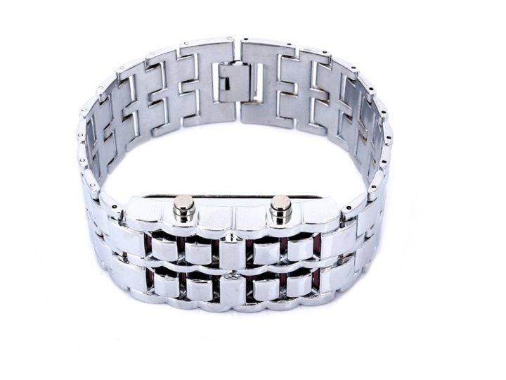 Часы Samurai Светодиодные из удароустойчивого пластика Белый с красным (1006-262-03) - изображение 1