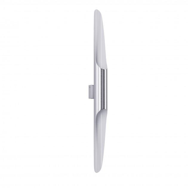 Бра для гостиной, спальни, офиса, кухни, прихожей, кафе P-full 5491-1 алюминий серебристый с белым PikArt - изображение 1