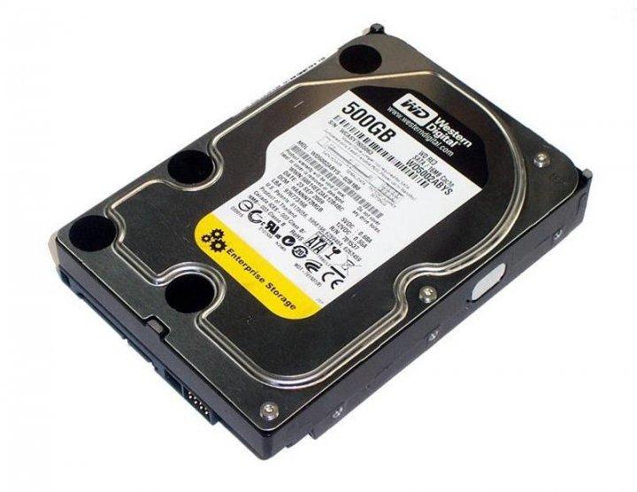 Жесткий диск Gateway SATA-Festplatte 500GB/7,2k/SATA 2/LFF (WD5002ABYS) Refurbished - изображение 1