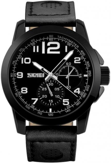 Мужские часы Skmei 9111 Black BOX (9111BOXBK) - изображение 1