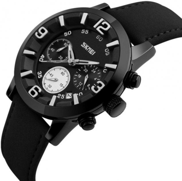 Мужские часы Skmei 9147 BK-White BOX (9147BOXBKW) - изображение 1