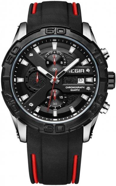 Чоловічий годинник Megir Silver Black MG2055 (MN2055GS-BK-1) - зображення 1