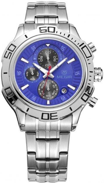 Мужские часы Megir Silver Blue Silver MG2019 SS (MS2019G-2) - изображение 1
