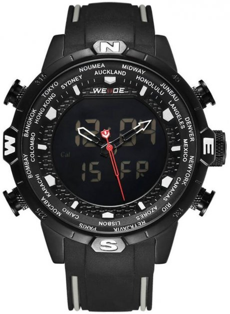 Мужские часы Weide All Black WH6310B-1C (WH6310B-1C) - изображение 1