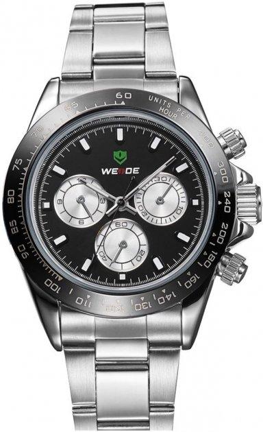 Мужские часы Weide Black WH3309-1C SS (WH3309-1C) - изображение 1