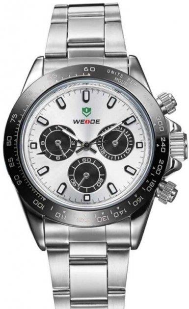 Мужские часы Weide White WH3309-2C SS (WH3309-2C) - изображение 1