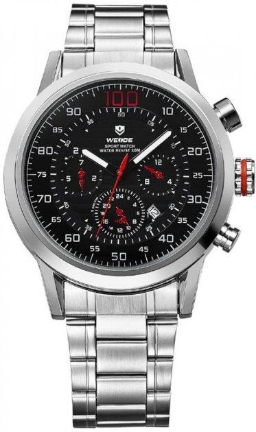 Мужские часы Weide Red WH3311-1C SS (WH3311-1C) - изображение 1