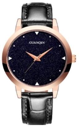 Женские часы Guanqin Gold-Blue-Black GS19051 CL (GS19051GBlB) - изображение 1