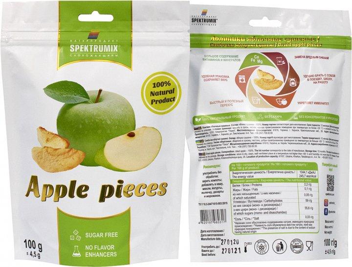 Упаковка скибочок яблучних Spektrumix 2 шт. х 100 г (2000000845326) - зображення 1