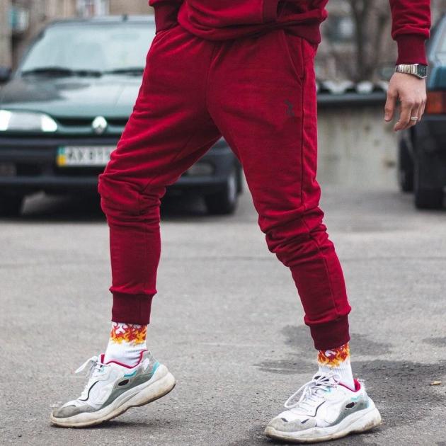 Спортивные штаны Over Drive Jog бордовые XS - изображение 1
