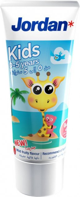 Зубная паста Jordan Kids 0-5 лет 50 мл (7046110071519) - изображение 1